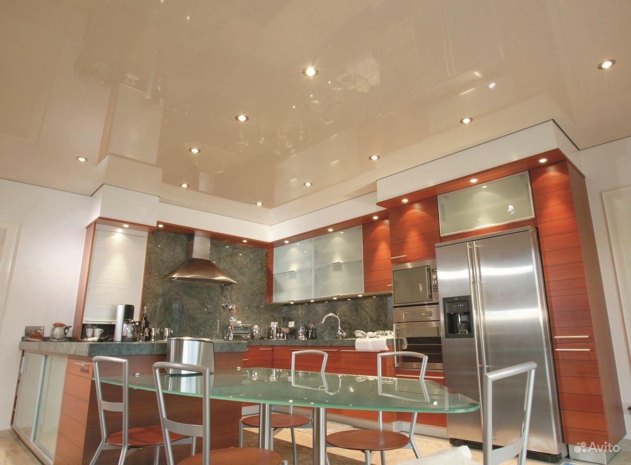Дизайн точечных светильников на кухню