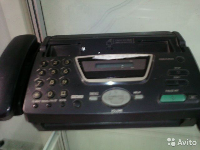 Факс panasonic KX FT72.