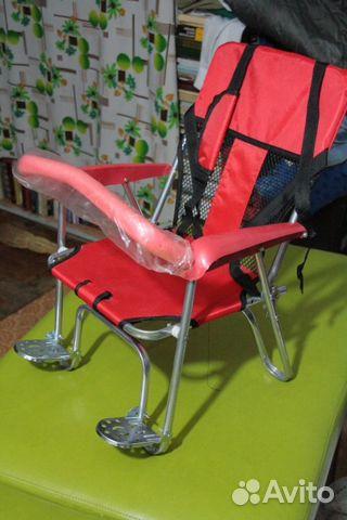 Детские велокресла на багажник своими руками
