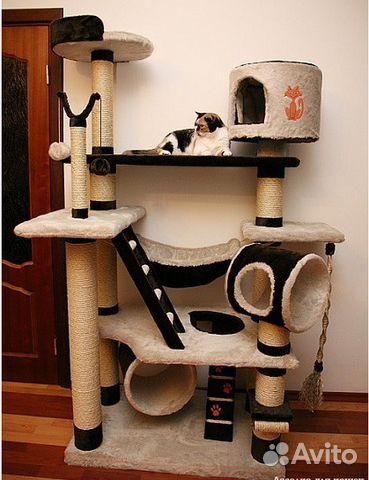 Игровые комплексы для кошек своими руками мастер класс