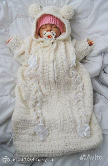 Multiflexmugotom Вязание для новорожденных конверты с ...