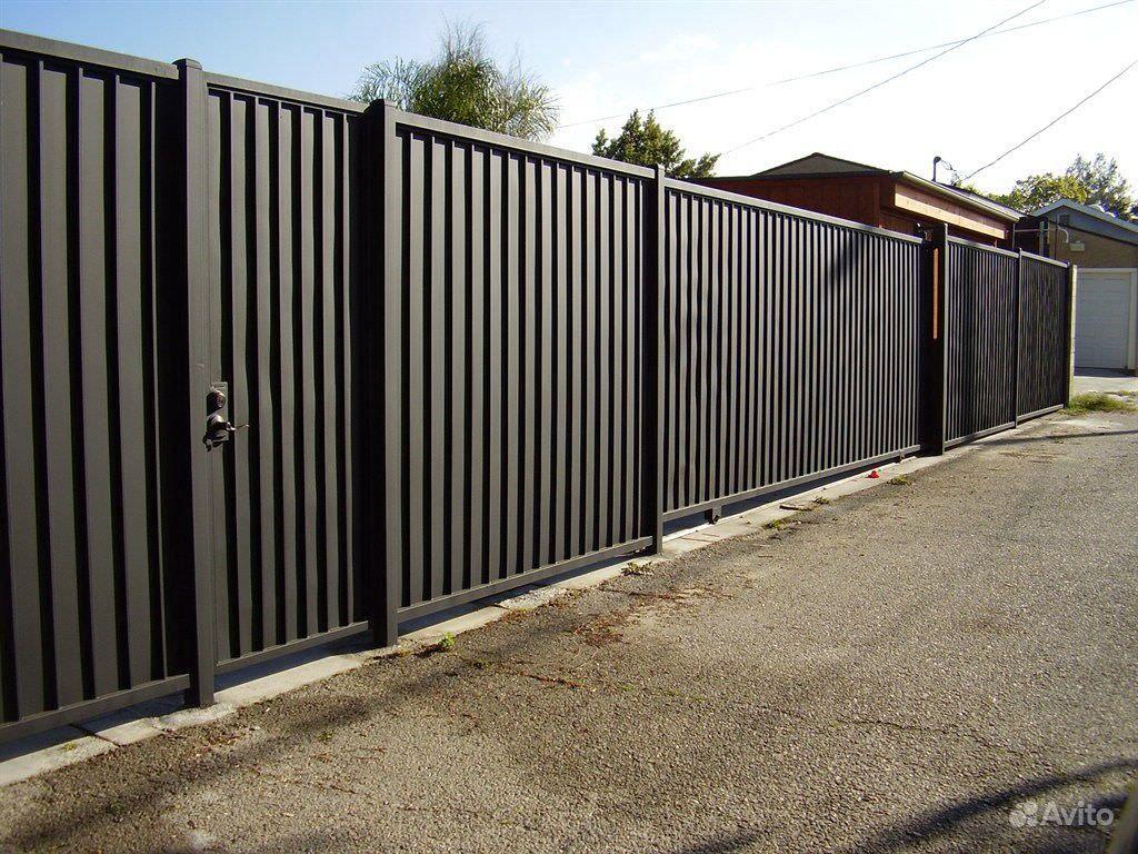 Забор из Профлиста, Евроштакетник под ключ купить на Вуёк.ру - фотография № 4