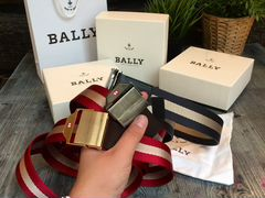 Ремни Bally switzerland black and gold + упаковка