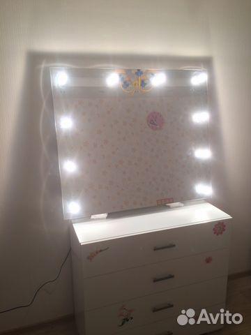 Зеркало для макияжа с подсветкой  авито