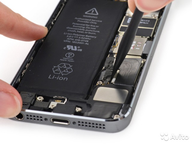 замена акб iphone 5 спб