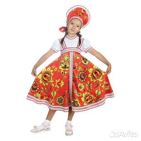 cf597125e26 Русский народный костюм Хохлома красный
