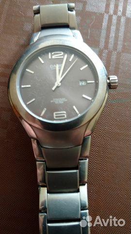 Мужские стальные, титановые наручные часы Casio