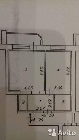 1-room apartment, 47 m2, 3/9 floor. 89806949041 buy 1