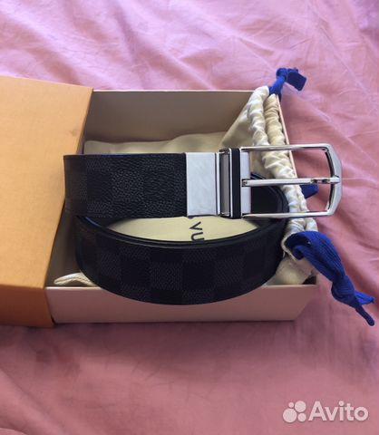 dc4866797fea Новый двухсторонний ремень Louis Vuitton Оригинал купить в Москве на ...
