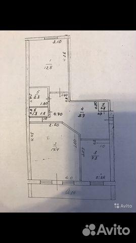 Продается двухкомнатная квартира за 1 400 000 рублей. Рязанская обл, село Захарово.