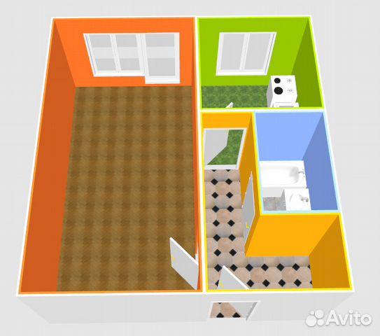 Продается однокомнатная квартира за 1 850 000 рублей. Сергиев Посад, Московская область, Бероунская улица, 22.