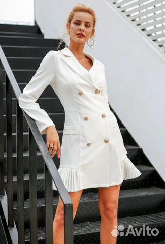 белое платье пиджак купить москва