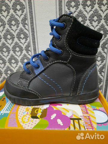 Продам кожаные ботинки на мальчика  89140436212 купить 1