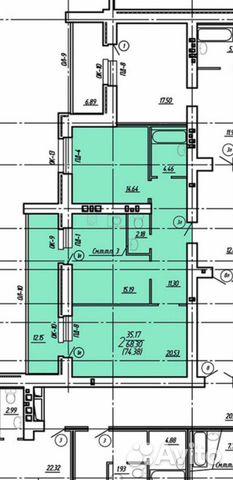 2-к квартира, 79 м², 14/15 эт. купить 10