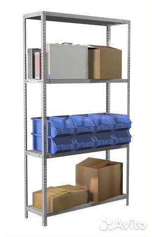 Новые металлические стеллажи с нагрузкой до 500 кг 89324784222 купить 1