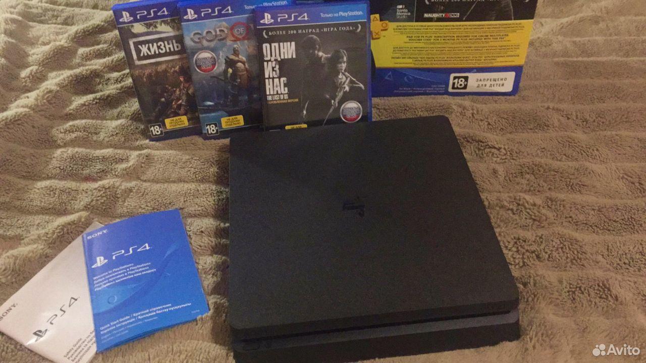 Sony PS4 Slim 1TB, новая, на гарантии + игры 89038918724 купить 4