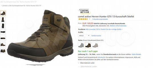 buy popular 7ff62 57850 Camel Active Hunter GTX13 р.44.5 Gore-Tex