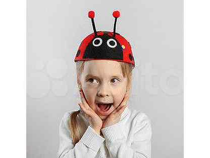Карнавальная шляпа детская «Божья коровка», р-р. 52-54