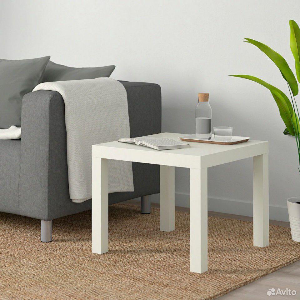 Лаккпридиванный столик, белый55x55 см  89632945800 купить 1
