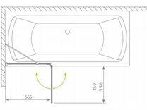 Шторка на ванну radaway torrenta PND 100