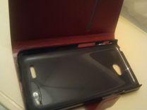 Кожаный чехол для LG L70. Новый
