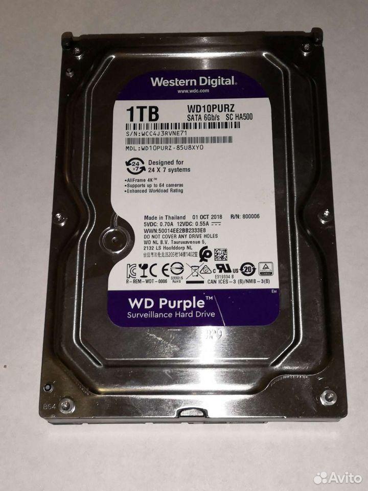Wd purple 1tb почти новый