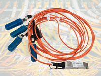 Соединительный кабель qsfp+ 40G 4х SFP+ SR AOC 1м — Товары для компьютера в Москве