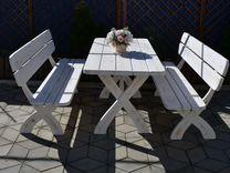 Стол Лавка Скамейка Садовая мебель из дерева — Мебель и интерьер в Геленджике